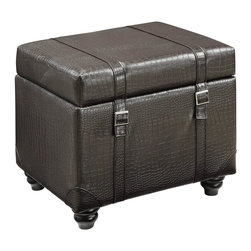 Convenience Concepts - Convenience Concepts Ottoman X-585161 - The style and functionality of the Office Storage Ottoman is the perfect addition to any office or dorm. With it's hinged top, and removable laptop desk you can store your files and sit back to do your work comfortably.