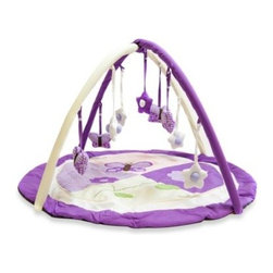 Pam Grace Creations - Pam Grace Creations Lavender Butterfly Play Gym - Decorative butterfly and star playmates hang down within reach for your baby to grab and play with this adorable play gym by Pam Grace Creations.