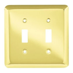 Liberty Hardware - Liberty Hardware 64098 Stamped Round WP Collection 4.96 Inch Switch Plate - Poli - A simple change can make a huge impact on the look and feel of any room. Change out your old wall plates and give any room a brand new feel. Experience the look of a quality Liberty Hardware wall plate.. Width - 4.96 Inch,Height - 4.9 Inch,Projection - 0.2 Inch,Finish - Polished Brass,Weight - 0.22 Lbs