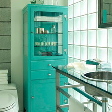 Modern Bathroom Storage by Lily Ann Cabinets