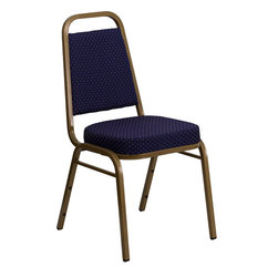 Flash Furniture - Hercules Series Trapezoidal Back Stacking Banquet Chair Navy Patterned Fabric - This is one tough chair that will withstand the rigors of time. With a frame that will hold in excess of 500 lbs., the Hercules Series Banquet Chair is one of the strongest banquet chairs on the market. You can make use of banquet chairs for many kinds of occasions. This banquet chair can be used in Church, Banquet Halls, Wedding Ceremonies, Training Rooms, Conference Meetings, Hotels, Conventions, Schools and any other gathering for practical seating arrangements. The banquet chair is also great for home usage from small to large gatherings. For any environment that you use a banquet chair it will put your guests at a greater comfort level with the padded seat and back. Another advantage is the stacking capability that allows you to move the chairs out of the way when not in use. With offerings of comfort and durability, you can be assured that you can enjoy this stacking banquet chair for years to come.
