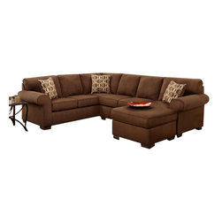 Chelsea Home Furniture - Chelsea Home Adams 2-Piece Sectional in Patriot Chocolate - Adams 2-Piece Sectional in Patriot Chocolate belongs to the Chelsea Home Furniture collection