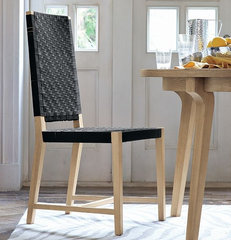 modern dining chairs and benches by West Elm