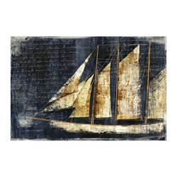 Midnight Sail - Leftbank. 60w x 40h. Available for order at Warehouse 74.