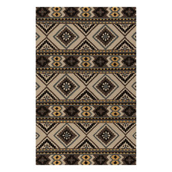 """Surya - Surya Albuquerque ALQ-402 (Brown Sugar) 3'3"""" x 5'3"""" Rug - Southwestern style is reinterpreted in the Albuquerque Collection. Plush hand-tufted wool and sophisticated colors brings a softer take to this classic American style. At home in a ranch house in Texas or a cottage in Maine, Albuquerque brings a versatility to the popular aesthetic."""