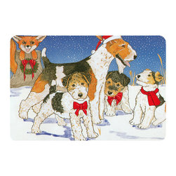 Caroline's Treasures - Fox Terrier Kitchen or Bath Mat 20 x 30 - Kitchen or Bath Comfort Floor Mat This mat is 20 inch by 30 inch. Comfort Mat / Carpet / Rug that is made and printed in the USA. A foam cushion is attached to the bottom of the mat for comfort when standing. The mat has been permanently dyed for moderate traffic. Durable and fade resistant. The back of the mat is rubber backed to keep the mat from slipping on a smooth floor. Use pressure and water from garden hose or power washer to clean the mat. Vacuuming only with the hard wood floor setting, as to not pull up the knap of the felt. Avoid soap or cleaner that produces suds when cleaning. It will be difficult to get the suds out of the mat.
