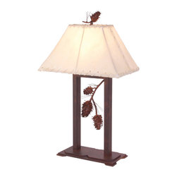 Steel Partners Inc - Table Lamp - PONDEROSA PINE - Every piece we create is unique handcrafted at our factory in Chehalis, Washington, USA. Due to this, lead times are 2 to 4 weeks.