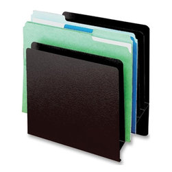 "Buddy - Buddy Classic Slant Desktop File Organizer, 9.9""w X 5.3""d X 10.5""h - Classic slant file organizes letter-size documents, files and folders. Pocket depth of 3/4 allows storage of binders and catalogs. Organizer is made of steel. Files not included."