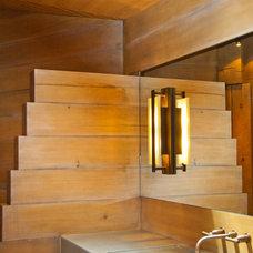 Contemporary Powder Room by BARRETT STUDIO architects