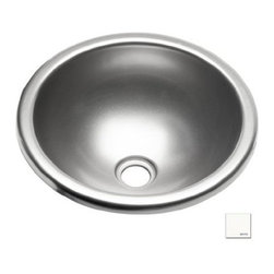 "Lyons Industries - Entertainment Sink, 12.75"" Diameter Round Acrylic, 1.5"" Drain Opening, White - Lyons Industries Single 12.75"" in diameter Round Bowl white acrylic entertainment sink 7.25"" deep with no faucet holes with a 1.5"" drain opening. This self rimming sink is easy to install as a remodel or new construction project. This sturdy sink has durable easy to clean high gloss acrylic construction with a fiberglass reinforced insulation backer. This sink is quiet and provides a superior heat retention than other sink materials meaning your water stays warm longer. Lyons sinks come with a simple mounting tab and clip system to firmly fasten the sink to the countertop. Detailed installation instructions include the cut-out specifications. Lyons sinks are proudly made in America by experienced artisans supporting our economy."