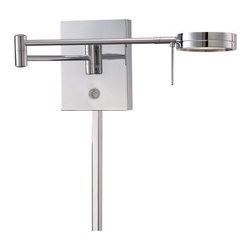 Kovacs - Kovacs P4308-077 LED Swing Arm Wall Sconce - Kovacs P4308-077 LED Swing Arm Wall SconceBoth functional and beautiful, this single light swing arm LED wall sconce features a stylish chrome finish. A built in 8 watt LED and on/off dimmer makes this unit easy and economical to operate.Kovacs P4308-077 Features: