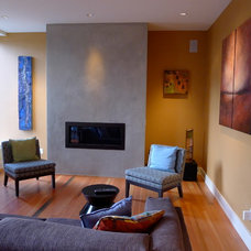 Contemporary Living Room by Paul Johnson Carpentry & Remodeling