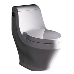 """Ariel - Ariel Platinum """"Adonis""""  Contemporary One Piece White Toilet - Ariel cutting-edge designed one-piece toilets with powerful flushing system. It?s a beautiful, modern toilet for your contemporary bathroom remodel. Dimensions: 29 x 15.7 x 28.3, UPC Approved, 12"""" Rough in For easy standard installation, High Quality Glaze that resist stains and Microbes, Seat is Included with the Toilet, Single flush (1.6gpf), Elongated Bowl, One Piece Construction for Clean modern look"""
