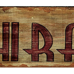 Red Horse Signs - Vintage Signs Shiraz Red Wine - Invite  guests  into  your  private  bar  with  rustic  vintage  wine  signs  such  as  this  Shiraz  design  printed  directly  to  distressed  wood.  Measuring  7  x30  inches  it  makes  a  great  statement  about  your  taste  in  beverages.