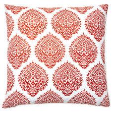 One Kings Lane - Ready Your Rooms - Falguni 20x20 Cotton Pillow, Orange