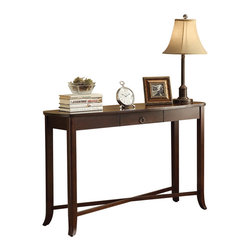 Office Star - INSPIRED by Bassett Bella Console Table w/ Drawer in Truffle Finish - Console Table w/ Drawer in Truffle Finish belongs to Bella Collection by Ave Six Series   Console Table (1)