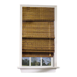 Lewis Hyman - Havana Bamboo Roman Shade in Pecan Finish (23 - Choose Size: 23 in. W x 72 in. LA multitude of different colors create a rich pecan finish that gives this Roman shade a textural look that evokes images of a warm summer beach, palm trees blowing in the wind. The shade is made of bamboo and wood and will add an island inspired charm to any decor. Made from Bamboo and Wood. 6 in. built-in valance. Light filtering provides privacy. Energy-efficient Insulation. Elegant and lushy shade. Easy to install. Minimal assembly requiredInviting relaxation and soothing cool breezes into
