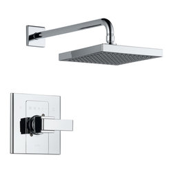 Delta Monitor(R) 14 Series Shower Trim - T14286-SHQ - Inspired by geometric designs found in mid-century modern furniture, Arzo makes a bold statement in understated fashion.