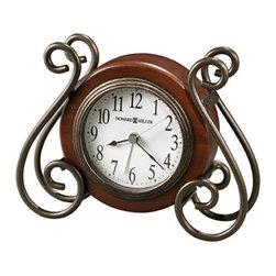 HOWARD MILLER - Howard Miller Diane Metal And Wood Alarm Clock - This decorative alarm clock features: