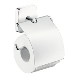 Hansgrohe - Hansgrohe-41508000 PuraVida Toilet Paper Holder w/Cover in Chrome - Hansgrohe-41508000 PuraVida Toilet Paper Holder w/Cover in ChromeAs one of the leading international manufacturers of plumbing products, Hansgrohe represents innovation, design, quality and showering pleasure at the highest level. For millions around the world, the company has become the standard by which all others are judged. Experience sensuality in the bathroom. Poetic, pureness and clarity of form. This is where we experience water, the flowing source of relaxation – and the color white, in all its beauty and brightness. White represents freshness and purity, something to be cherished day by day. Every morning, every evening, water and our senses are brought together. Pure. Sensual. Alive. PuraVida.To make the daily rituals in the bathroom even more comfortable for you, Hansgrohe offers accessories that match the faucet and shower lines within the World of Styles. These compelling counterparts offer beautiful designs as well as create convenience. Hansgrohe-41508000 PuraVida Toilet Paper Holder w/Cover in Chrome, Features:• Solid Brass HolderHansgrohe Limited WarrantyManufacturer: HansgroheModel Number: 41508000Manufacturer Part Number: Hansgrohe 41508000Collection: PuraVidaFinish Code: Finish: ChromeUPC: 011097618258This product is also listed under the following Manufacturer Numbers and Finish Codes:Hansgrohe 41508000HG4150800041508000Product Category: Bathroom AccessoriesProduct Type: PuraVida Toilet Paper Holder