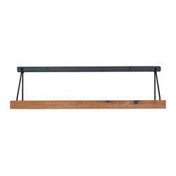 """Wayne Works - Industrial Strut Shelf Reclaimed Wood - Bring a balanced mixture of reclaimed cedar wood and steel framing into your place with these beautiful handmade strut styled shelves. The ad is for ONE shelf. The shelf shown in the ad is 28"""" long and 8.125"""" tall, with a depth of 7.5""""."""