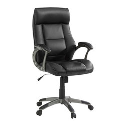 Sauder - Sauder Manager Chair Leather Black in Chair Black - Sauder - Office Chairs - 414348