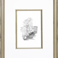Classic Pooh XI Vintage English Framed Print