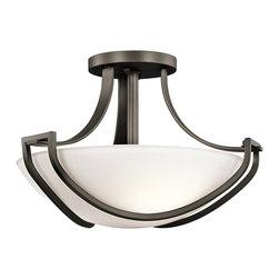 Kichler Lighting - Kichler Lighting 42651OZ Owego Transitional Semi Flush Mount Ceiling Light - Kichler Lighting 42651OZ Owego Transitional Semi Flush Mount Ceiling Light