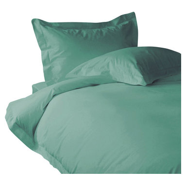 300 TC Flat Sheet Pocket Solid Aqua Blue, Twin - You are buying 1 Flat Sheet (66 x 96 Inches) only.