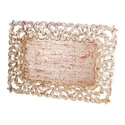 Abigails - Vendome Rectangle Placemat, Ant Silver, Set of 4 - A wonderful placemat in silver leaf that also doubles as a base on a table for a centerpiece. The rubbed finish is all applied by hand so slight variation occur that add interest.