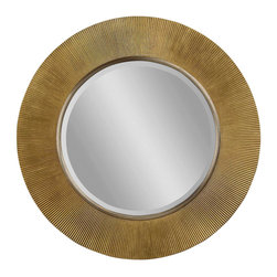 Bassett Mirror - Gold-Silver Round Wall Mirror - Gold Finish with Silver Accent - Round. Measures: 40 in. W x 40 in. H.