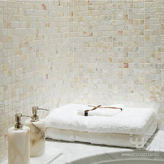 traditional bathroom tile by ITB Mosaics--not only sell mosaics but ideas !