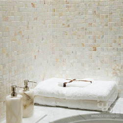 ITB - Bathroom Tile,Shell Mosaic Tile,Mosaic,Wall tile,kitchen tile,bathroom wall tile - Looks simple and elegant. Made of natural freshwater shells, thickness :2mm