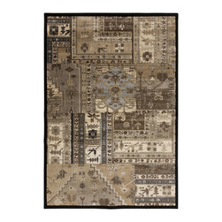 """Surya - Surya Lenoir LEN-2458 (Brown, Mossy Gold) 6'7"""" x 9'6"""" Rug - With a 100% polypropylene construction, the radiant rugs of the Lenoir collection include design styles from traditional to transitional, creating a perfect look for any space. Featuring a classic design in warm, inviting coloring, these flawless pieces will remain a timeless part of any home decor for years to come. ''Pantone'' colors include: Dark Forest (19-0506), Ash Gray (16-4402), Taupe (16-1310), Ivory (13-0907), Olive (17-1028), Mocha (19-1217), Rust (18-1425), Moss (16-5810)"""
