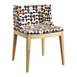 Inova Team -Modern Ash Wood Dining Chair - Go big, go floral with the Flower Power Dining Chair. Reminiscent of the psychedelic 1960s, this chair makes a bold statement in any space. Bright colors and swirling floral patterns bring the excitement of the '60s to your home.