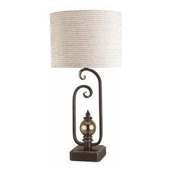 Cal Lighting - Cal Lighting BO-648 Table 150 W 3Wy Retro Vantage  Table Lamp - 150W 3 Way Retro Vantage Table Lamp