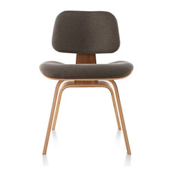Herman Miller - Herman Miller Eames Molded Plywood Upholstered Dining Chair Wood Base - The Molded Plywood Dining Chairs offer the same exceptional comfort and enduring style as the lounge chairs. But they're sized to work at the table.
