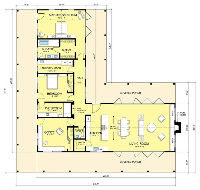 Ranch house plans Modern ranch floor plans