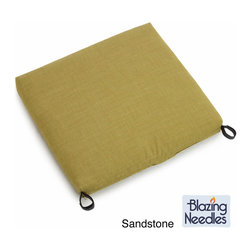 Blazing Needles - Blazing Needles Solid All-weather Outdoor Rocker Chair Cushion - This outdoor chair cushion is a stylish and comfortable addition to any compatible patio rocker. This cushion features all-weather, UV-resistant acrylic fabric.