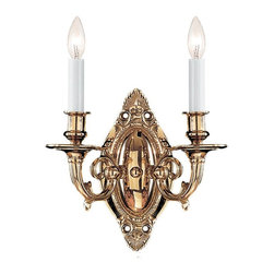 Crystorama - Crystorama 622-PB Arlington Wall Sconce - Understated detailing and Cast Brass construction make this wall sconce from the Arlington collection the perfect finishing touch to any traditional room.
