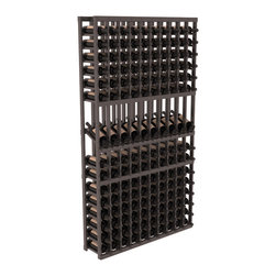 Wine Racks America - 10 Column Display Row Wine Cellar Kit in Pine, Black Stain + Satin Finish - Make your 10 best vintages the focal point in your wine cellar. Display rows allow presentation of favored labels and encourages simple cellar organization. Our wine cellar kits are constructed to industry-leading standards. You'll be satisfied. We guarantee it.
