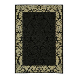 Safavieh - Safavieh Courtyard Cy2727-3908 Black / Sand Area Rug - Traditional patterns and classic beauty are found in the area rugs of the Courtyard collection. Made in Belgium of enhanced polypropylene, these rugs are extremely durable and perfect for indoor or outdoor use. The area rugs of the Safavieh Courtyard collection offer highly detailed and sophisticated designs created through an unusual sisal weave. Select the colors, design, and style that will compliment any room in your home in round, rectangular or runner rugs.