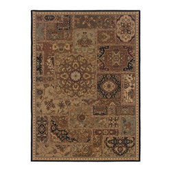 """Oriental Weavers - Traditional Nadira 9'10""""x12'5"""" Rectangle Beige-Black Area Rug - The Nadira area rug Collection offers an affordable assortment of Traditional stylings. Nadira features a blend of natural Beige-Black color. Machine Made of Wool the Nadira Collection is an intriguing compliment to any decor."""