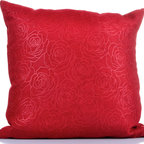 "Concepts Life - Concepts Life Square Pillow  Red Damask - These red Damask Throw Pillows are equal parts whimsy and grace. Great for a subtle floral infusion into any space. Product Detail:Printed on fabric. Materials: Polyester cover with poly filler;Spot clean;Dimensions:18""h x 18"";Weight:;1.5 lbs; Pillow arrives a bit flat due to packaging; Once the pillow is aired and fluffed it will regain its full, soft and plump shape"