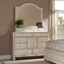 American Woodcrafters - American Woodcrafters Newport 8 Drawer Dresser Multicolor - AWR1078 - Shop for Dressers from Hayneedle.com! Have the upmost storage space for clothing and accessories with the American Woodcrafters Newport 8 Drawer Dresser. This piece is available with an optional mirror and storage box for keeping smaller accessories safe. The eight drawers offer ample storage space with felt-lined top drawers for storing delicate items while the center cabinet houses larger items. Featuring English dovetail construction this dresser is the perfect piece to suit your bedroom and help you prepare to face the day.