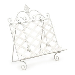"IMAX - Deborah Book Holder - A great home warming or wedding gift, the Deborah iron book holder is perfect for holding cookbooks on the kitchen counter. Item Dimensions: (12.75""h x 3.25""w x 15.5"")"