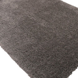 Jaipur Rugs - Shag Solid Pattern Polyester Gray/ Area Rug - Microfiber rugs that beg to be touched!  Extremely soft in great colors this rug is a must have. Origin: China