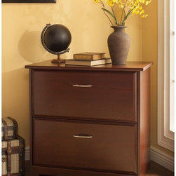 Bush Furniture - Bush 30 in. Lateral File - Harvest Cherry - WC31480-03 - Shop for File and Storage Cabinets from Hayneedle.com! Avoid having your office look like it belongs to a hoarder by storing your files in a beautiful and convenient manner with the Bush Furniture 30 in. Lateral File - Harvest Cherry. Durable and solidly constructed this attractive cabinet is just right for your office or home workspace.Finished in an elegant harvest cherry this wonderful file cabinet matches the height of the Cabot Corner and L-Desk which allows for an extended reach. A stable design solid top and a small footprint allow the Lateral File to be positioned anywhere. It has two spacious laterally opening drawers that hold letter- legal- or A4-sized files. And the fully extendable ball-bearing drawer slides make it easy to access contents as well as provide years of trouble-free use. Plus the interlocking drawer mechanism reduces the likelihood of tipping. Topping it all off are attractive nickel-plated metal drawer pulls that add a nice touch of class to this impressive design.About Bush FurnitureBush Furniture is the eighth largest furniture company in the United States. Bush manufactures high-quality products which are designed to be easily assembled and provide great value for the price. Bush furniture is made from a combination of particleboard fiberboard and solid wood components. The use of real wood components will be noted in the product description if applicable.Bush Industries has over 4 000 000 total square feet of manufacturing warehousing and distribution space. This allows for a very wide selection of high-quality furniture with the ability to ship quickly. All standard residential Bush products carry a generous 6-year warranty. All Bush business furniture including the A series C series and Quantum series is backed by a 10-year warranty from Bush one of the best in the industry.