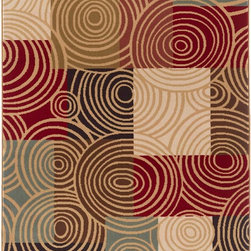 Tayse - Contemporary Laguna 5'x7' Rectangle Multi Color Area Rug - The Laguna area rug Collection offers an affordable assortment of Contemporary stylings. Laguna features a blend of natural Multi Color color. Machine Made of Polypropylene the Laguna Collection is an intriguing compliment to any decor.