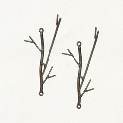 Iron Twig Hooks - These hooks look like delicate twigs but are made of iron. I can see these making a perfect addition as coat hooks in an entryway or mud room. Even better if it's a cabin in the woods or a lake house.